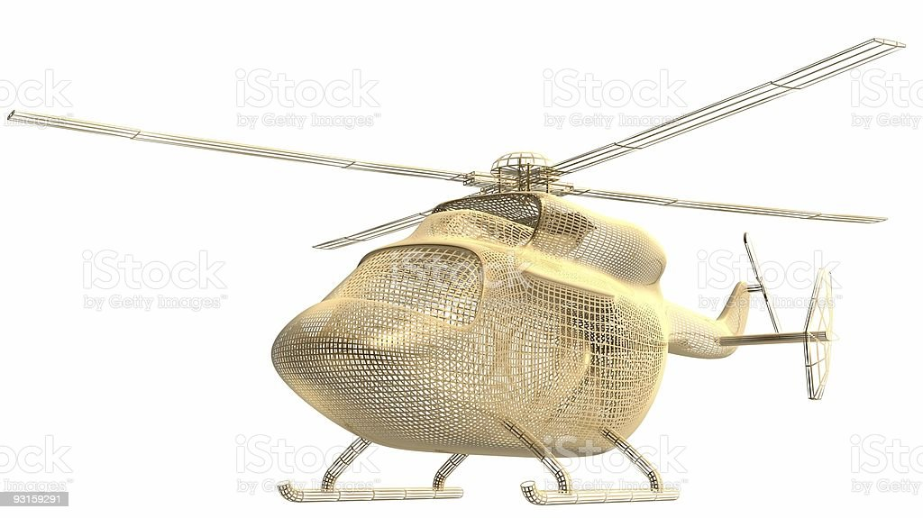 golden helicopter frame royalty-free stock photo
