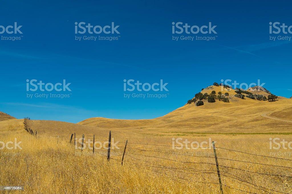 Golden Hills stock photo