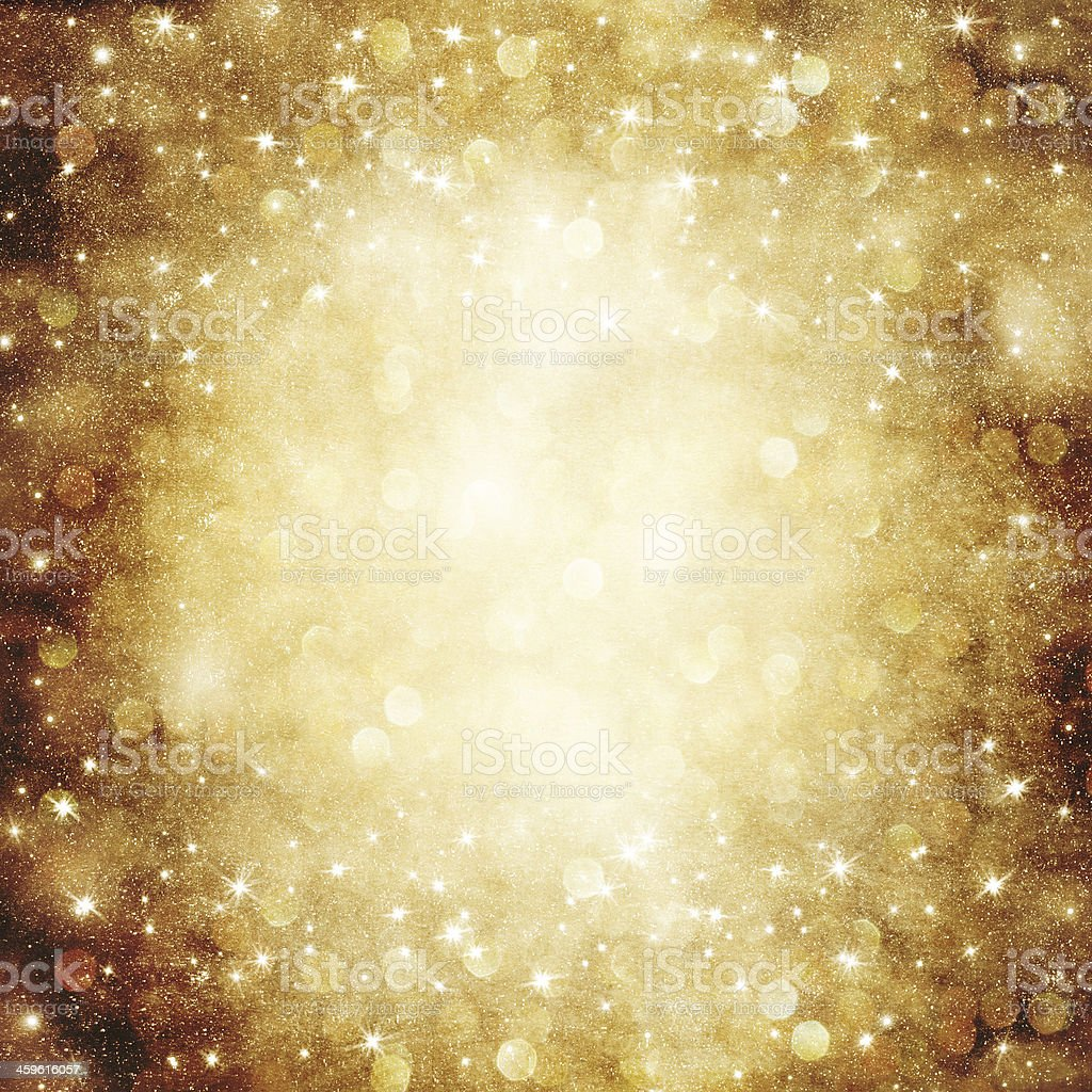Golden Holiday Abstract background. stock photo