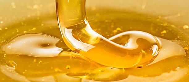 Golden honey stock photo