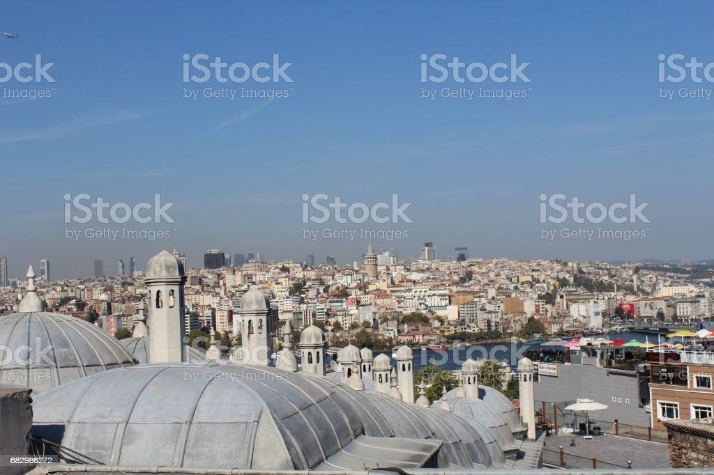 Golden Horn and Galata From Süleymaniye Mosque foto de stock royalty-free