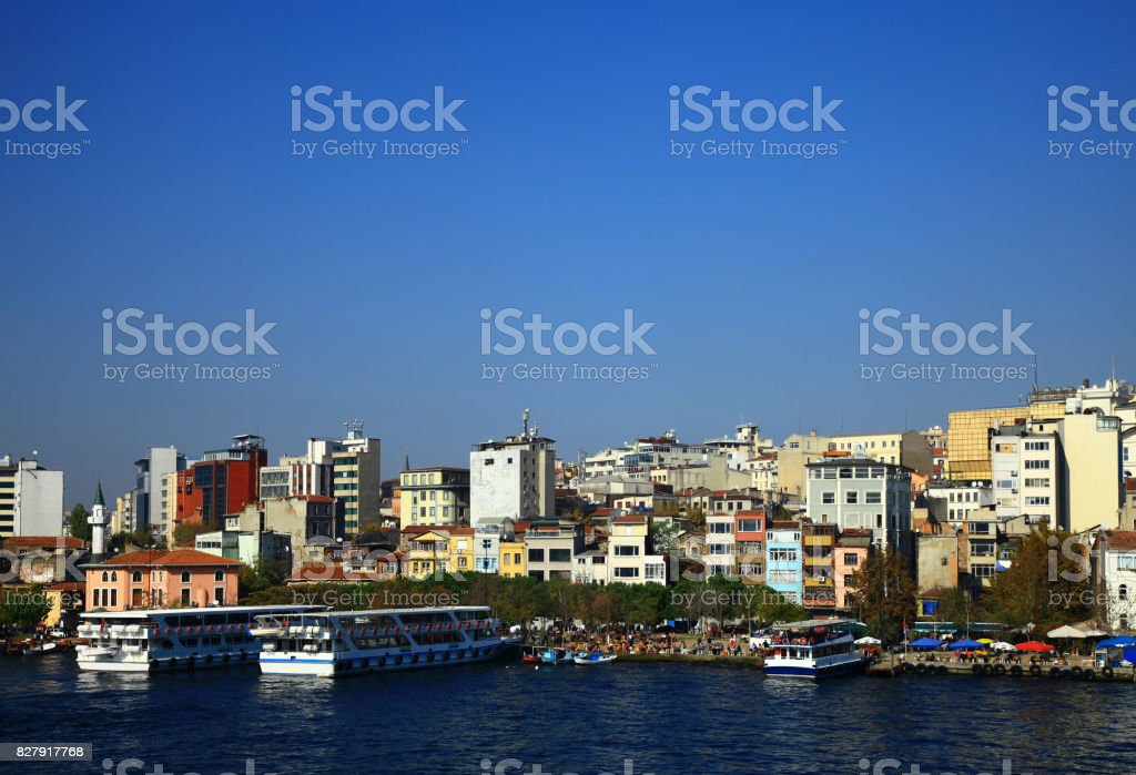 Golden Horn in Istanbul. Turkey. stock photo