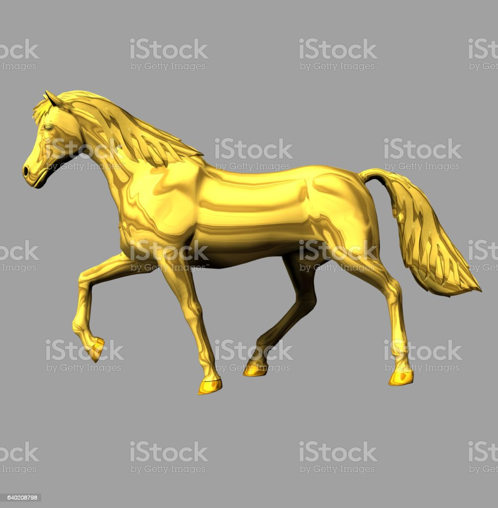 Golden Horse Stock Photo Download Image Now Istock