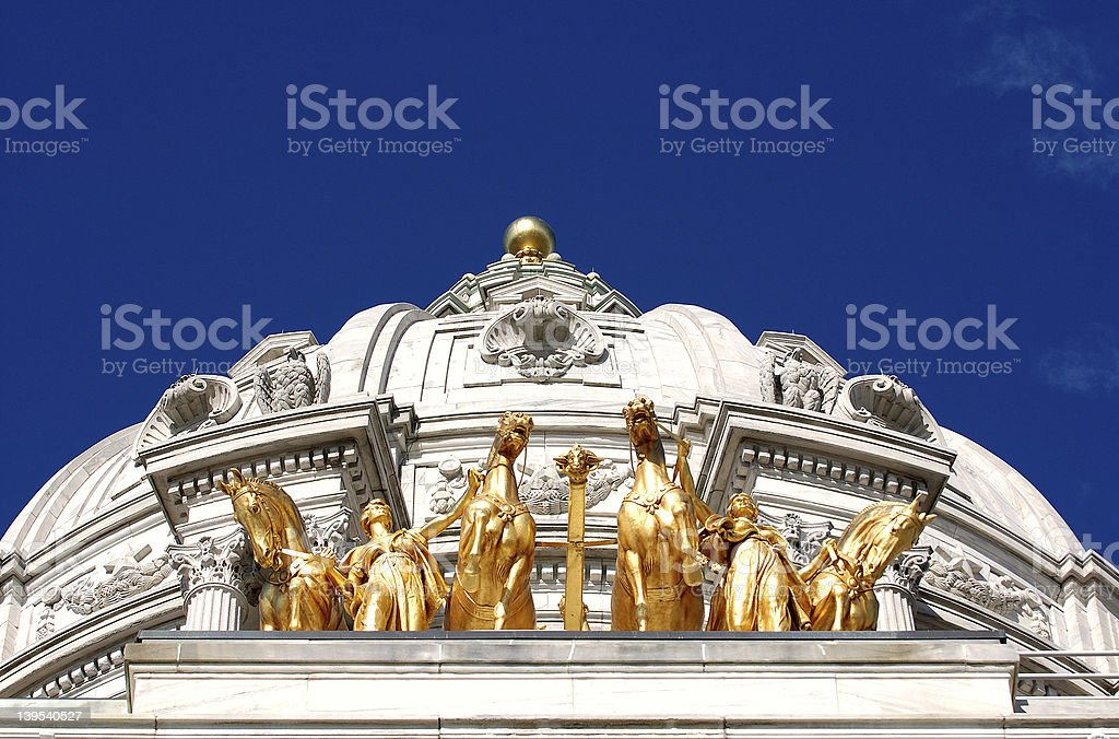 Golden Horses stock photo
