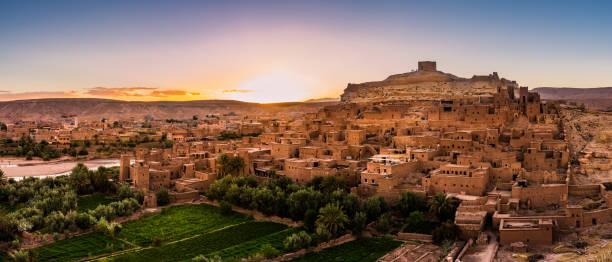 gyllene timmen på aït ben haddou - kasbah bildbanksfoton och bilder