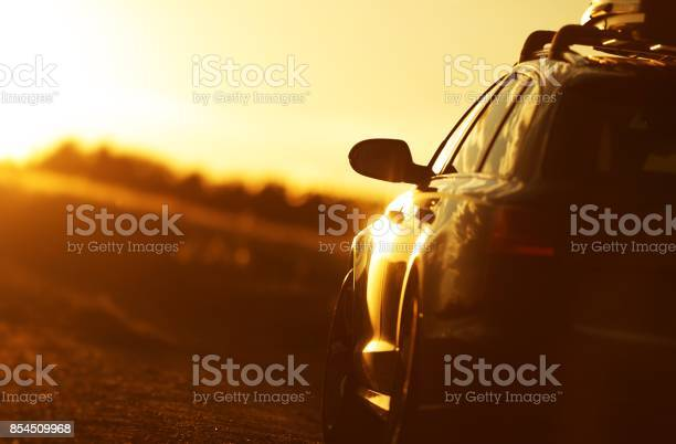 Photo of Golden Hour Car Road Trip
