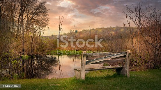 Early spring season landscape image