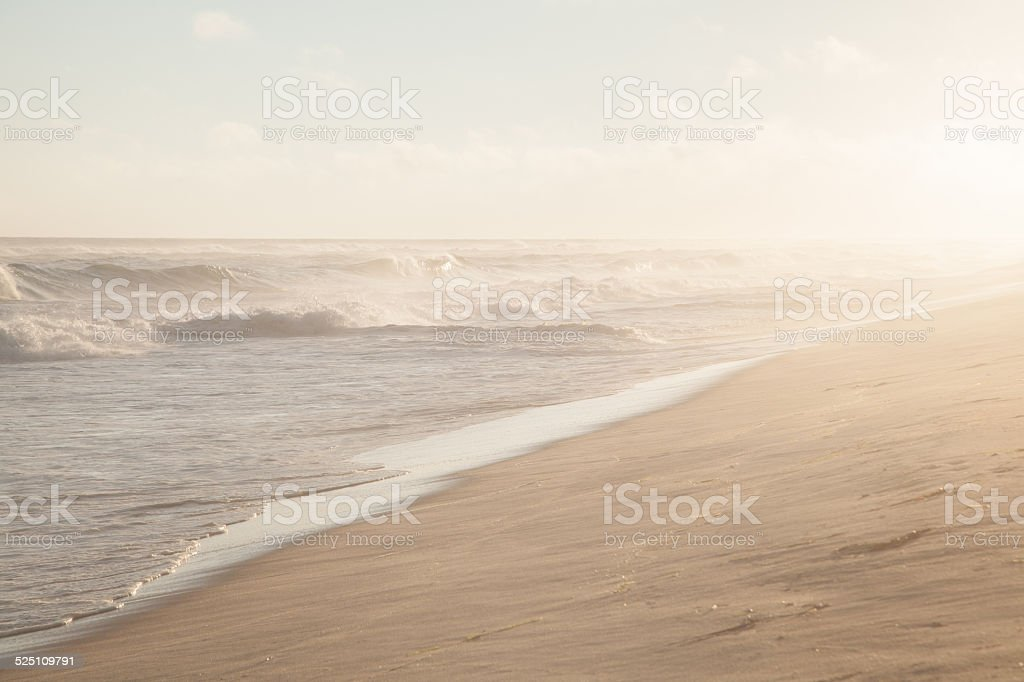 Golden Hour on Cooper Beach stock photo