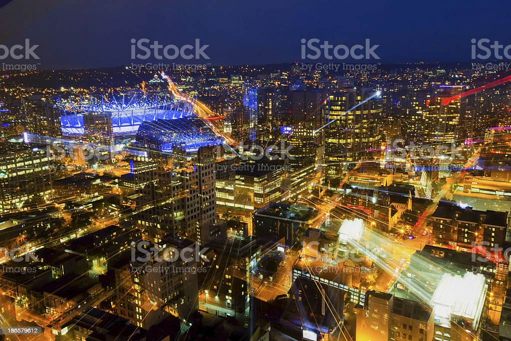 Golden Hour over downtown Vancouver royalty-free stock photo