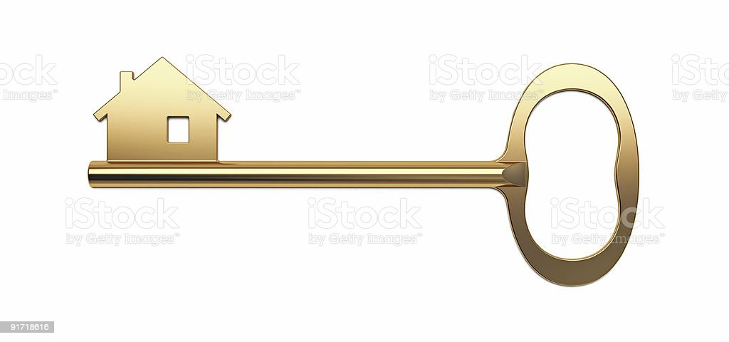 Golden House Key Stock Photo More Pictures of Accessibility iStock