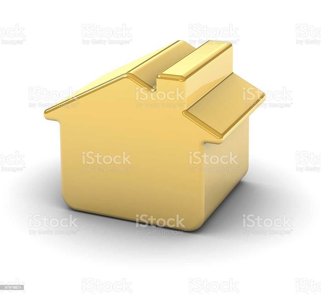 Golden House royalty-free stock photo
