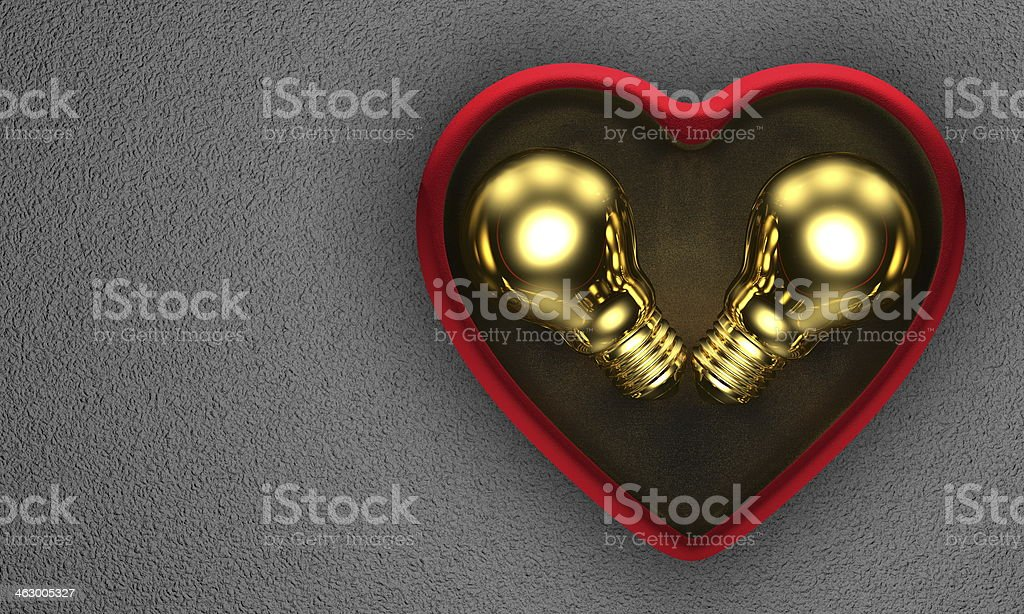 Golden Ideas For Saint Valentines Days Present Stock Photo Download Image Now Istock