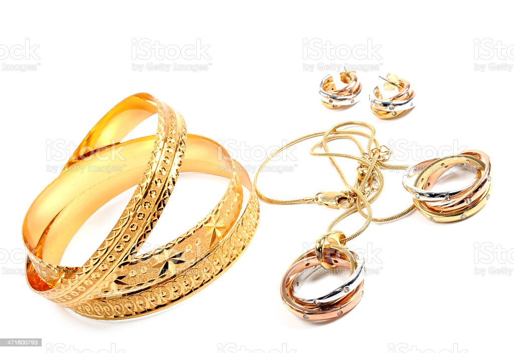 Golden jewelry royalty-free stock photo