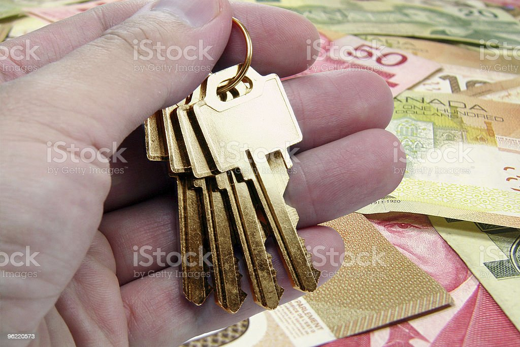 golden key to success, canadian dollar royalty-free stock photo
