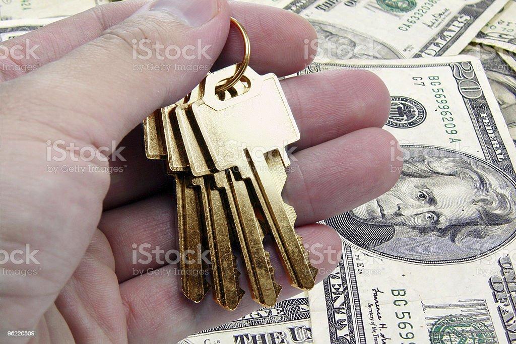 golden key to success, us dollar royalty-free stock photo