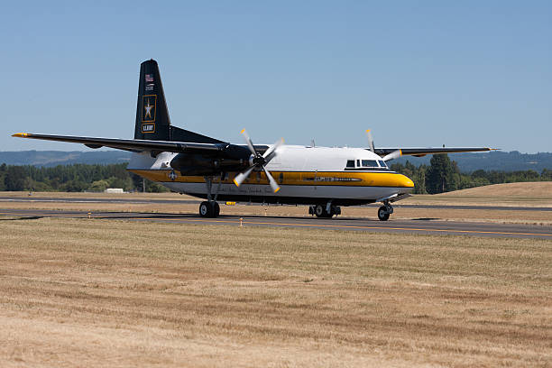 Golden Knights Transport Plane C-31A Troopship stock photo