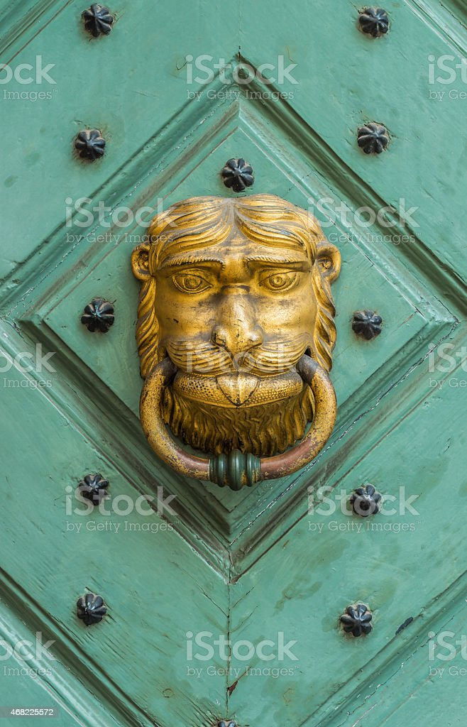 Golden knocker stock photo