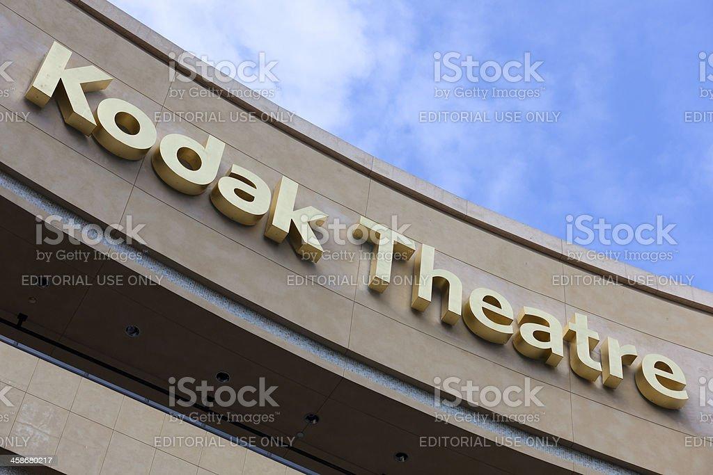 golden kodak theatre sign royalty-free stock photo
