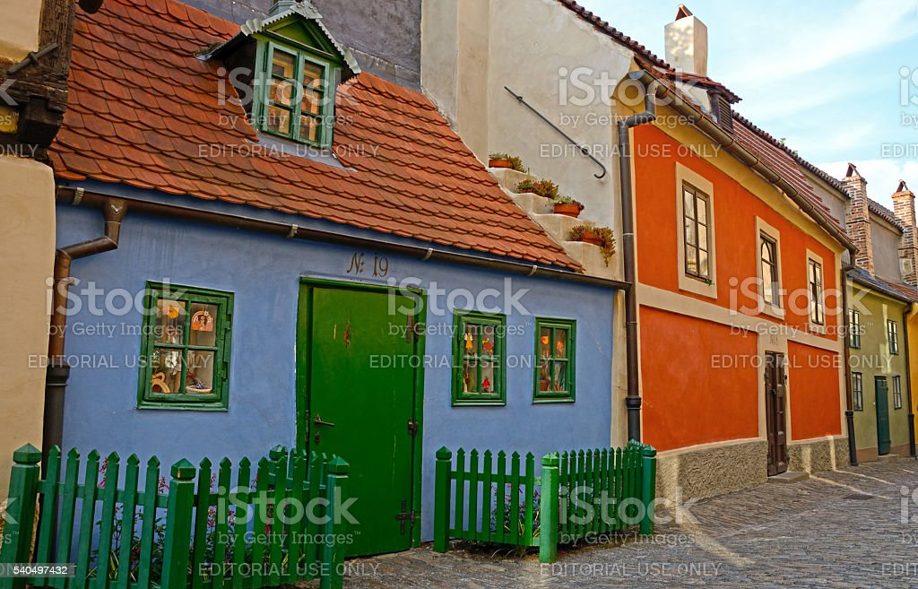 Golden Lane in Prague stock photo