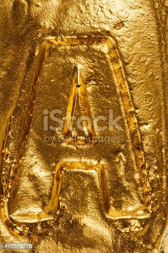 184953872istockphoto Golden letter A 477579778