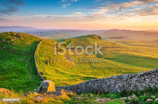 istock Golden Light at Hadrian's Wall Caw Gap 985859902