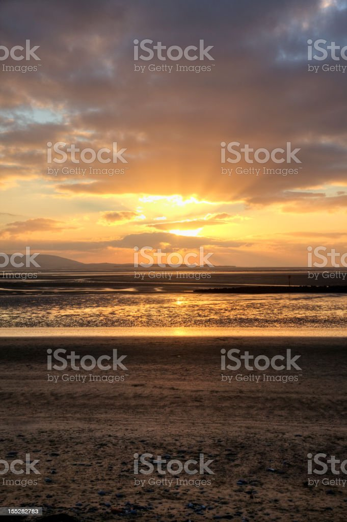 Golden light at sunset royalty-free stock photo