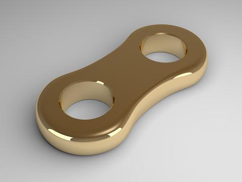 istock Golden link on gray 466446634