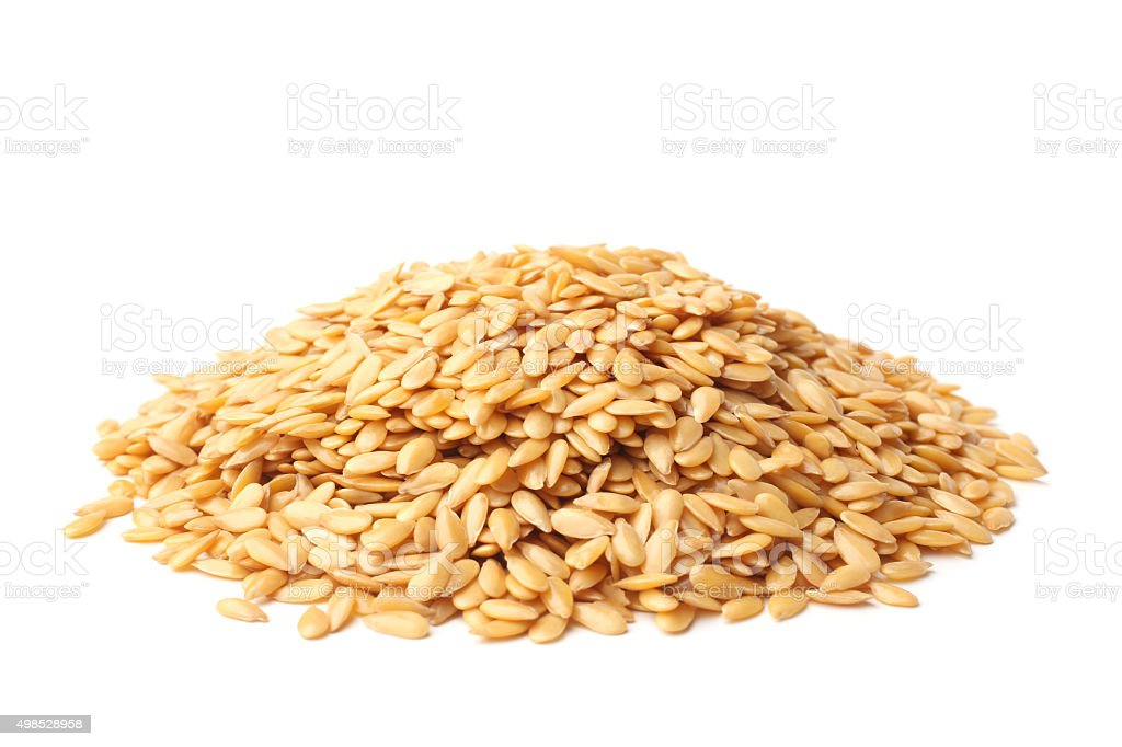 Golden linseed stock photo
