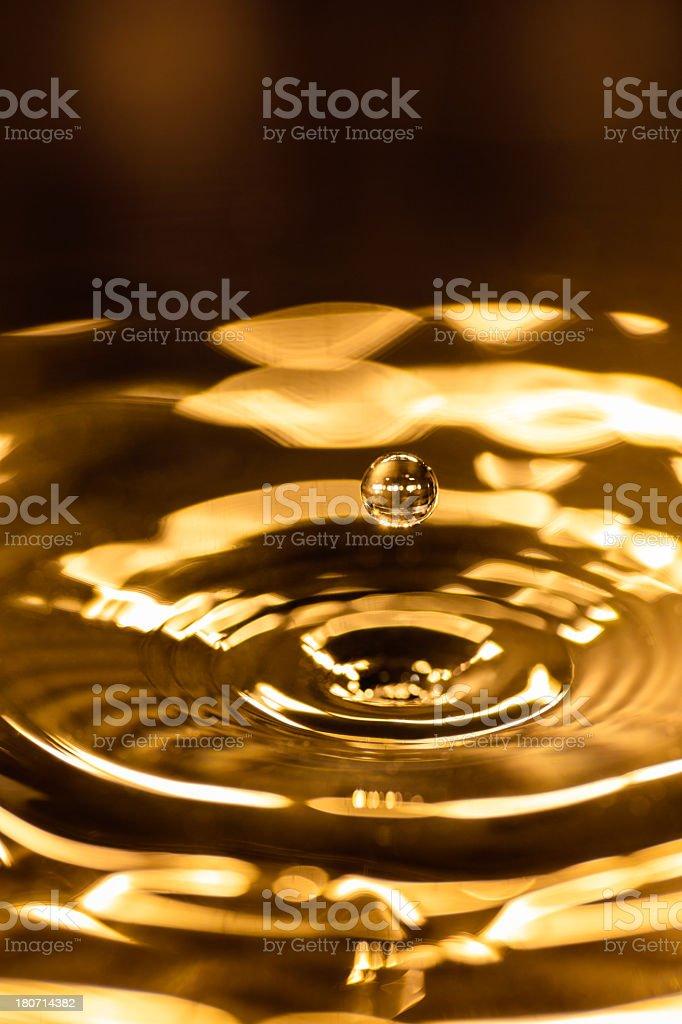 Golden liquid background royalty-free stock photo