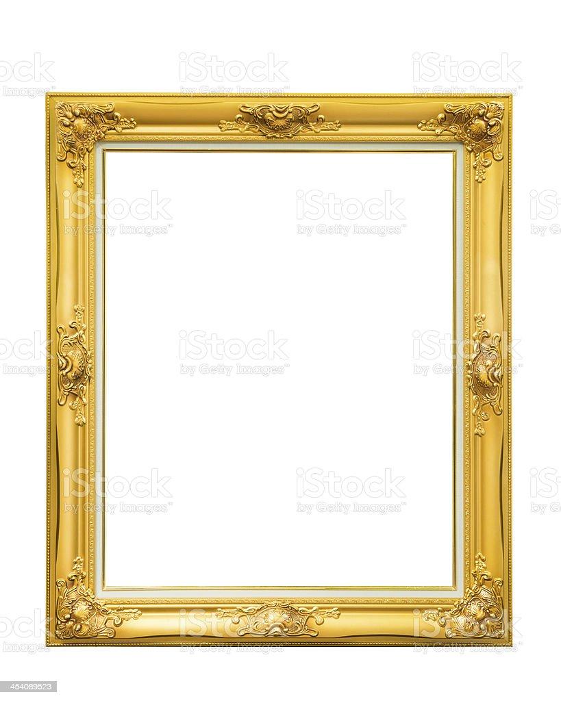 Golden Louise Fotorahmen Isoliert Auf Weißem Hintergrund Stock ...
