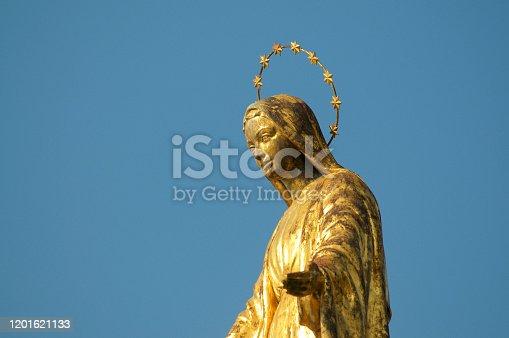 istock Golden Madonna statue of Luino 1201621133