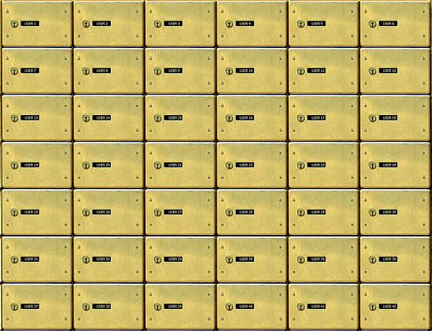 golden mail-boxen - briefhalter stock-fotos und bilder
