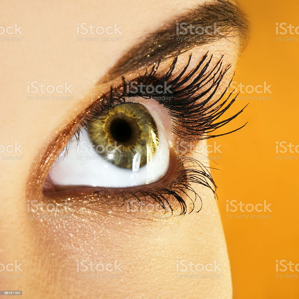 Golden makeup royalty-free stock photo