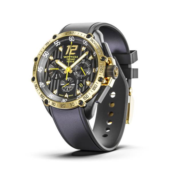 Golden man Luxuswrist Uhren isoliert auf weißem Hintergrund 3d render – Foto
