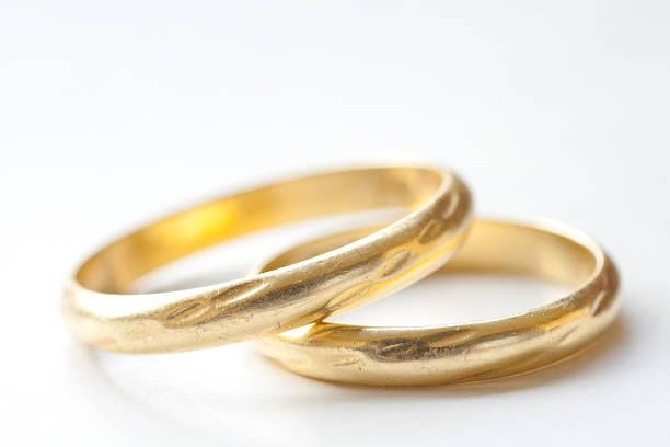 Goldene Hochzeit Ringe – Foto