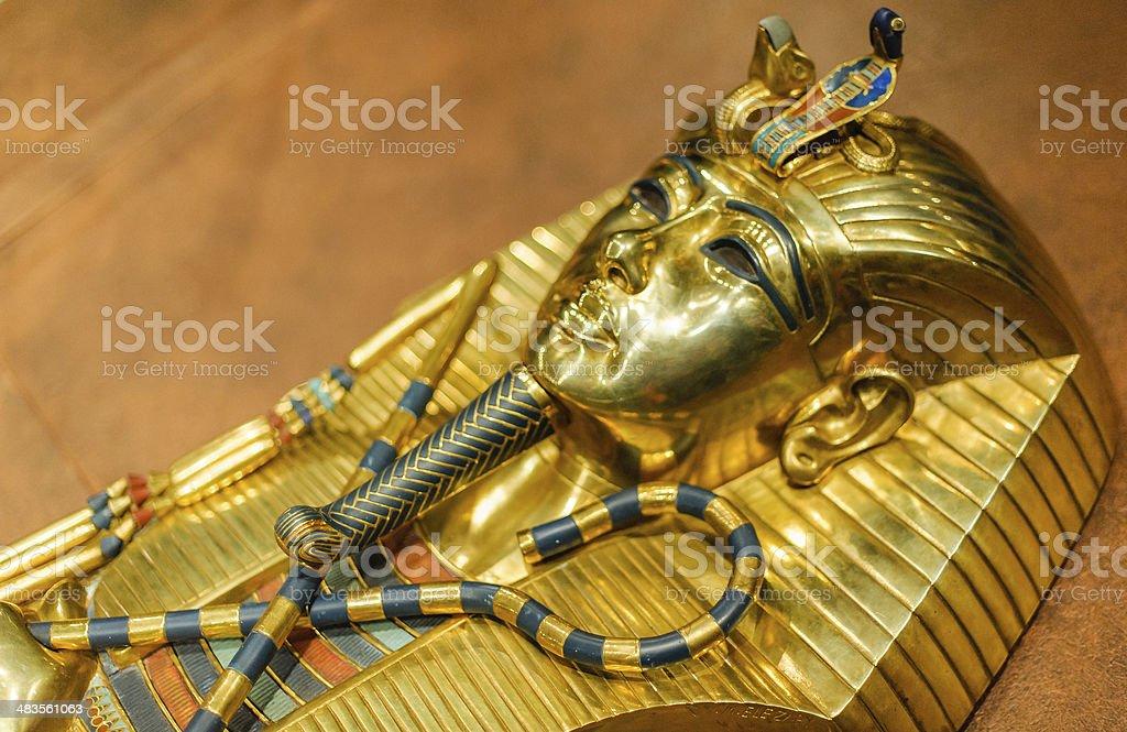 Golden Mask of Tutankhamun stock photo