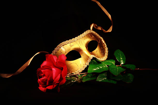 golden mask - opera stock photos and pictures