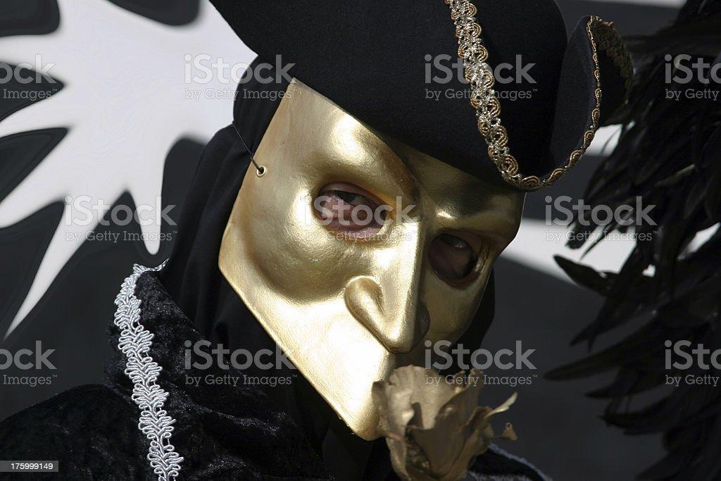 Golden mask royalty-free stock photo