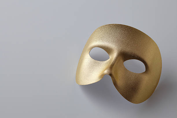 Golden mask Plain golden mask for drama mask disguise stock pictures, royalty-free photos & images