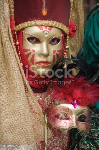 istock Golden mask 92125407
