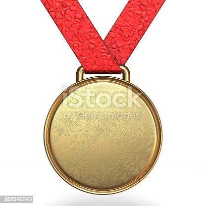 istock Golden medal 3D 958946240
