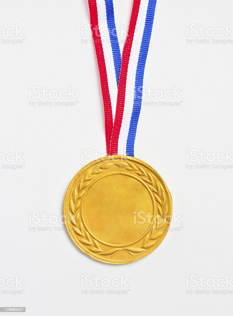 Golden medal. royalty-free stock photo