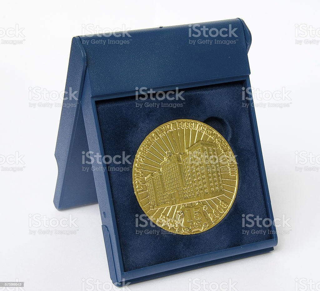 Golden medal royalty-free stock photo