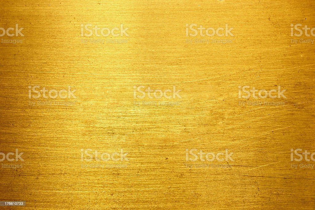 Golden metal (Texture) stock photo