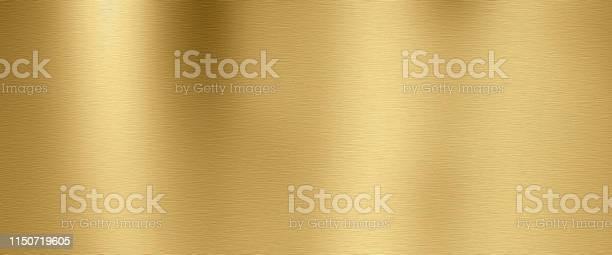 Photo of Golden metal texture background