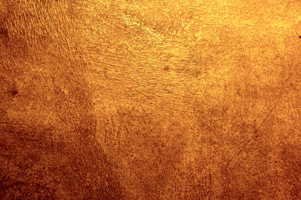 Golden metal texture background with high details stock photo