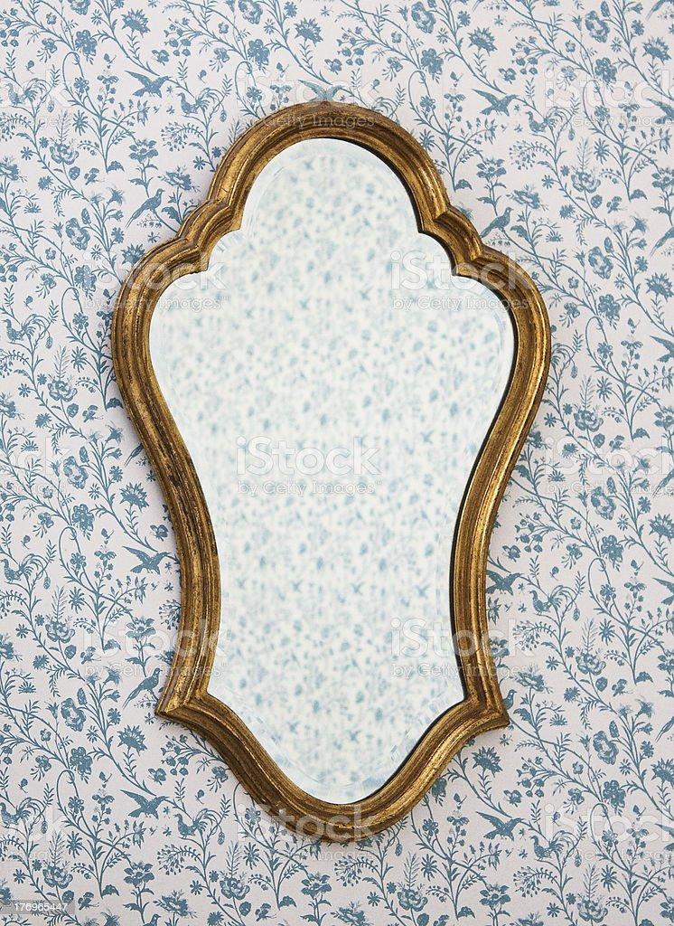 Golden Mirror Frame royalty-free stock photo