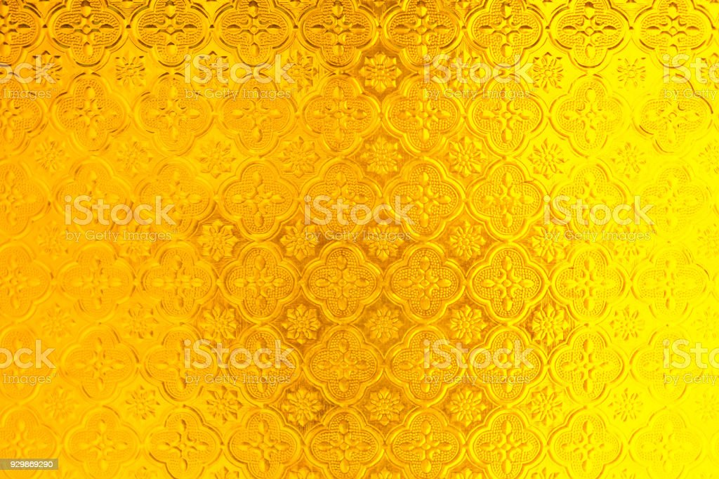 Golden Mirroryellow Window Glass Thai Style Background Texture Stock Photo Download Image Now Istock