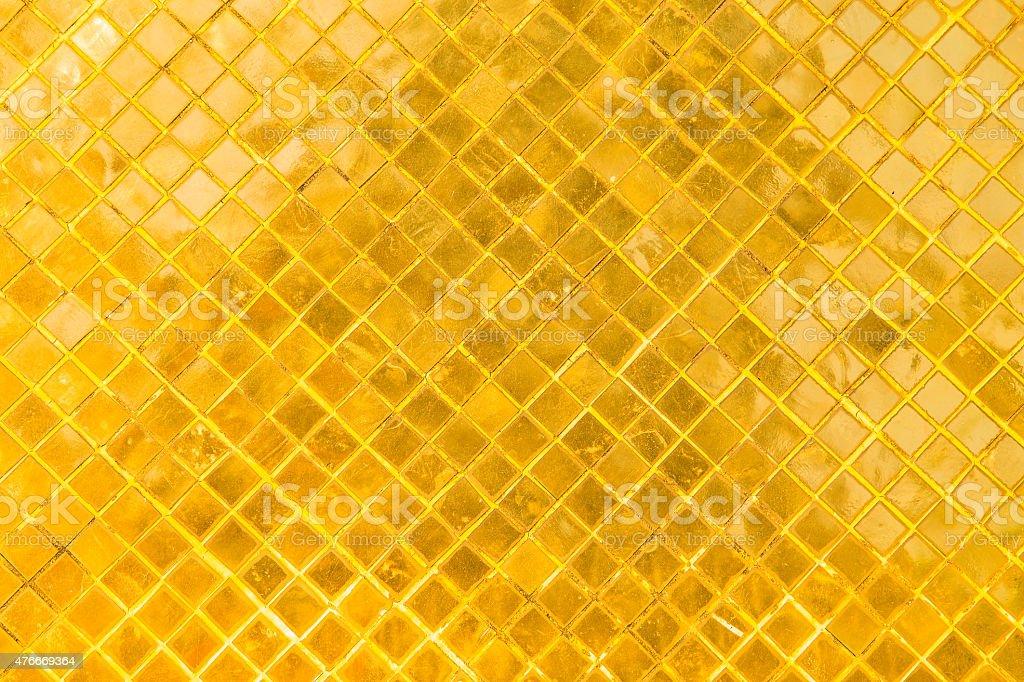 Golden mosaic background stock photo