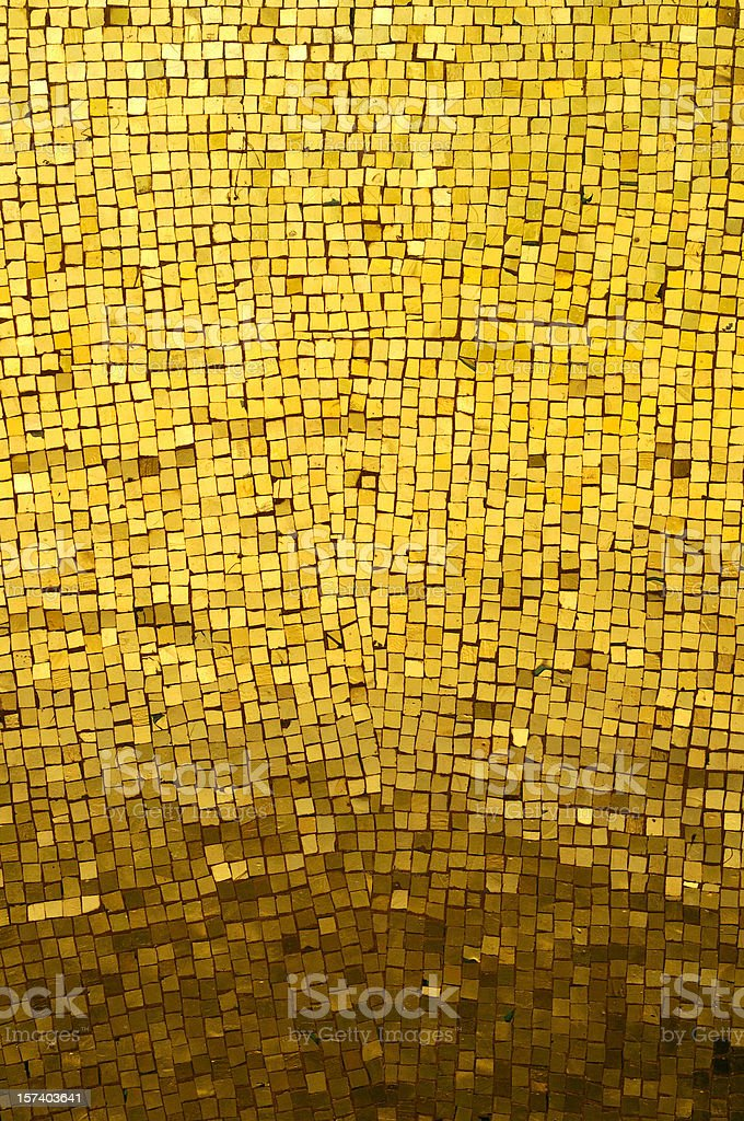 Golden Mosaic stock photo